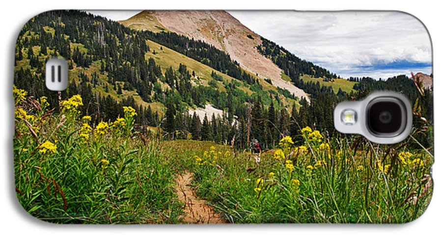 3scape Galaxy S4 Case featuring the photograph Hiking In La Sal by Adam Romanowicz
