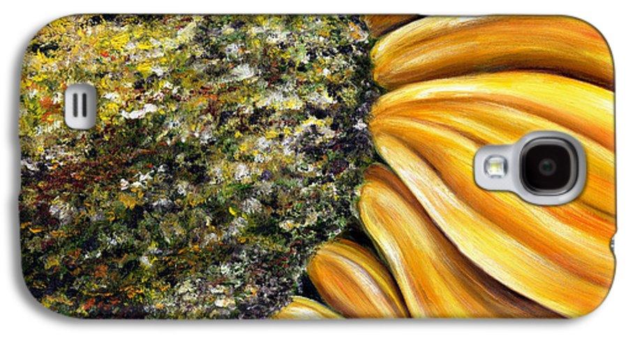 Sun Flower Galaxy S4 Case featuring the painting Himawari by Hiroko Sakai