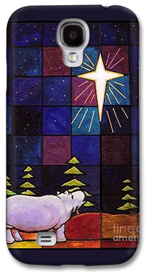 Christmas Galaxy S4 Case featuring the painting Hippo Awe And Wonder by Jim Harris