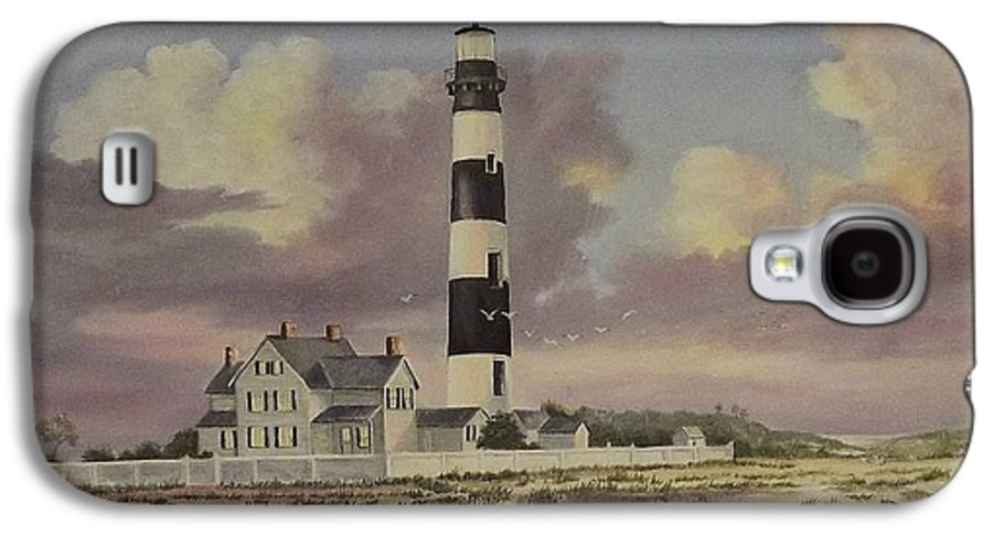 Lighthouse Galaxy S4 Case featuring the painting History Of Morris Lighthouse by Wanda Dansereau