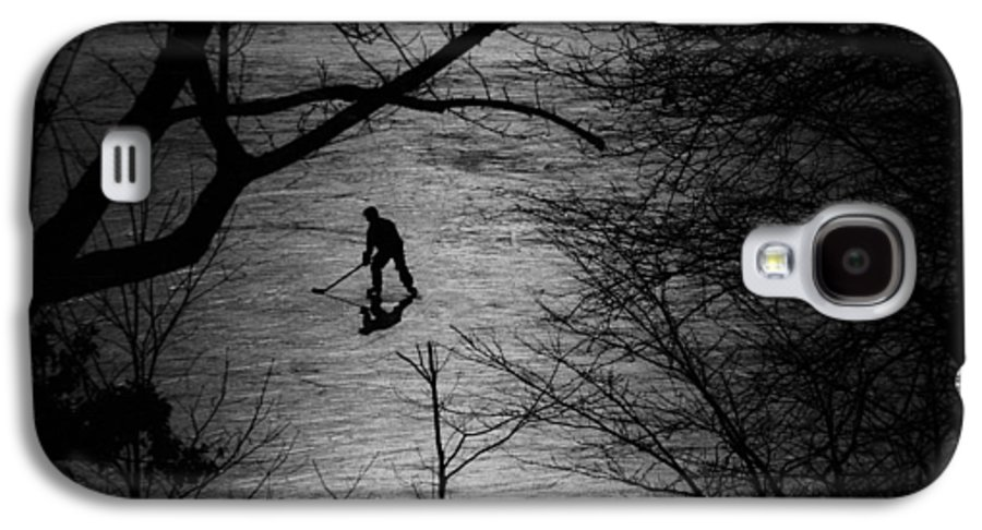 Hockey Galaxy S4 Case featuring the photograph Hockey Silhouette by Andrew Fare