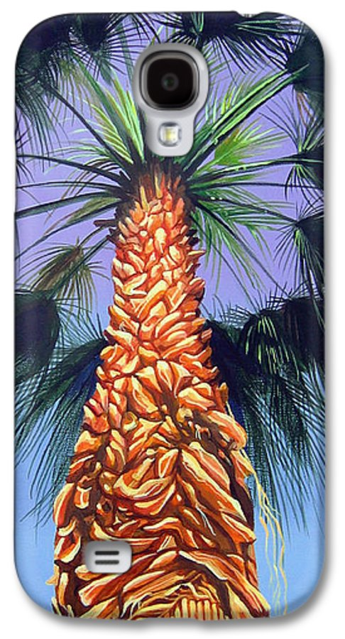 Palm Tree In Palm Springs California Galaxy S4 Case featuring the painting Holding Onto The Earth by Hunter Jay