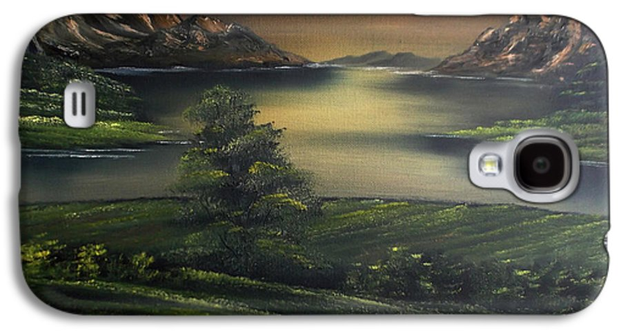 Landscape Galaxy S4 Case featuring the painting How Green Is My Valley by Cynthia Adams