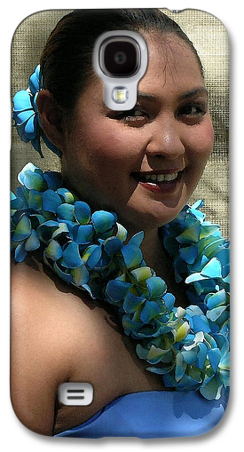 Hawaii Iphone Cases Galaxy S4 Case featuring the photograph Hula Blue by James Temple