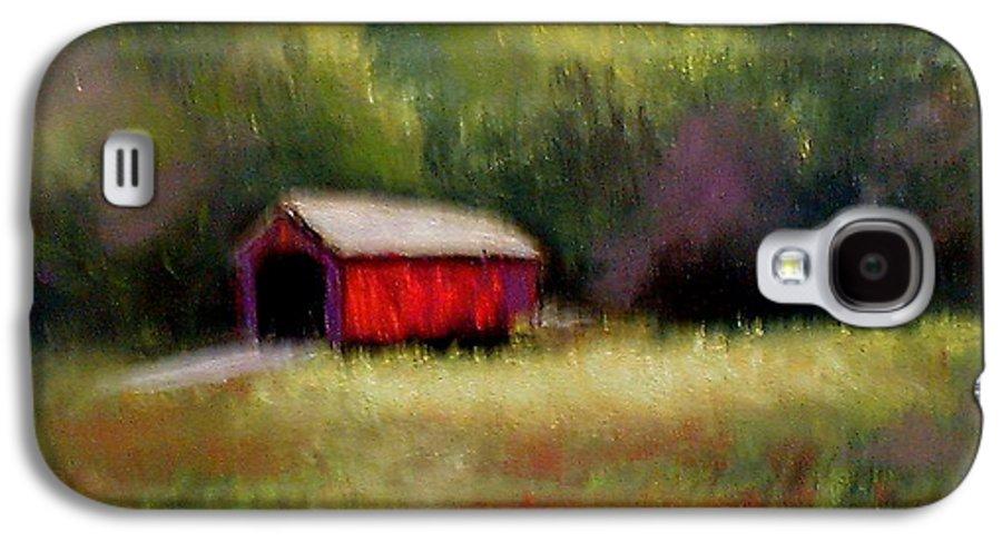 Covered Bridge Galaxy S4 Case featuring the painting Hune Bridge by Gail Kirtz