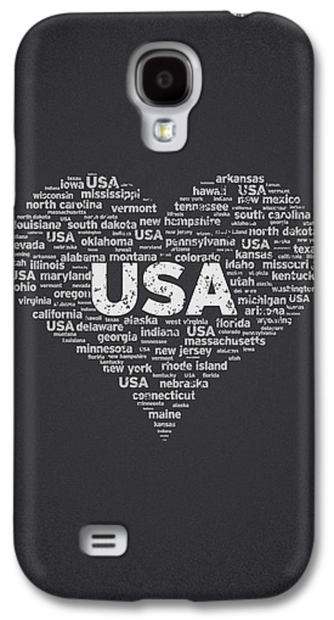 Usa Galaxy S4 Case featuring the digital art I Love Usa by Aged Pixel