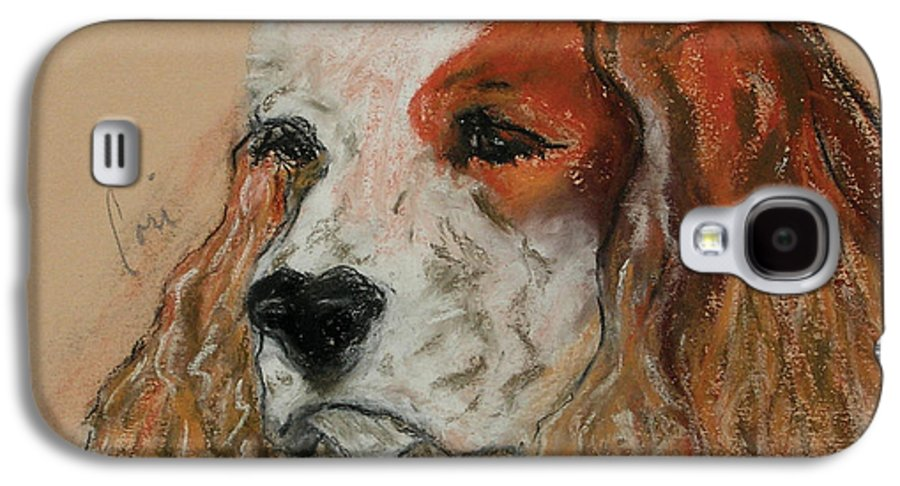 Dog Galaxy S4 Case featuring the pastel Idle Thoughts by Cori Solomon