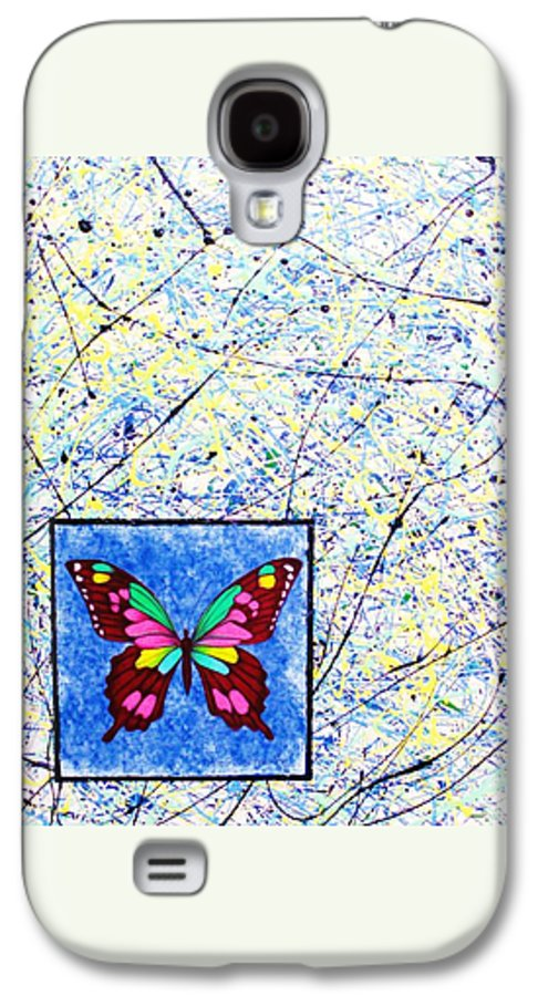 Abstract Galaxy S4 Case featuring the painting Imperfect I by Micah Guenther
