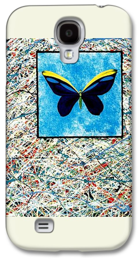 Abstract Galaxy S4 Case featuring the painting Imperfect II by Micah Guenther
