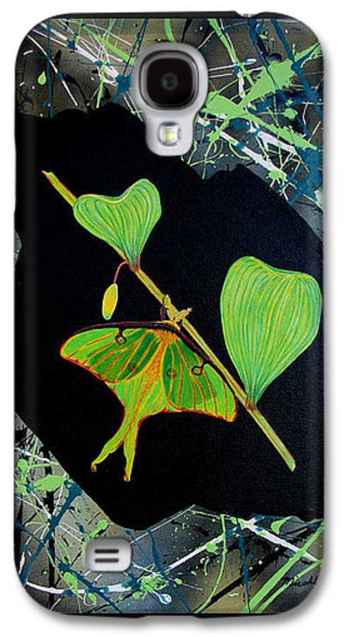 Abstract Galaxy S4 Case featuring the painting Imperfect IIi by Micah Guenther