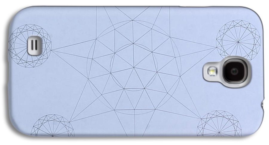 Jason Padgett Galaxy S4 Case featuring the drawing Impossible Parallels by Jason Padgett