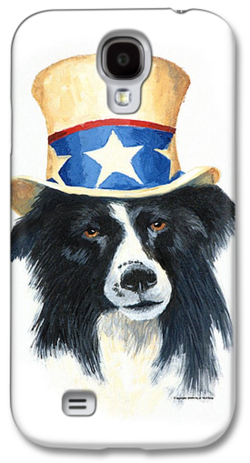 Dog Galaxy S4 Case featuring the painting In Dog We Trust by Jerry McElroy