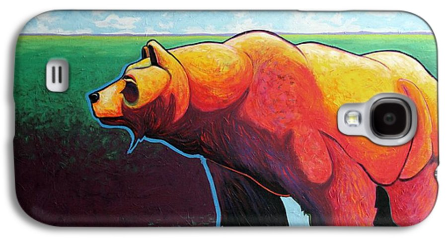 Grizzly Bear Galaxy S4 Case featuring the painting In His Prime by Joe Triano