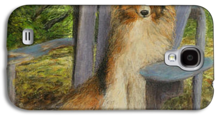 Pets Galaxy S4 Case featuring the painting In Memory Of Esha by Chris Neil Smith