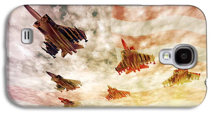 Air Force Galaxy S4 Case featuring the digital art Independence Day by Carol and Mike Werner