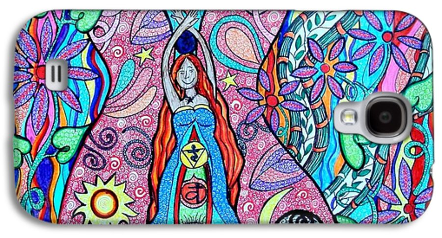 Goddess Galaxy S4 Case featuring the drawing Inner Goddess by Kim Larocque