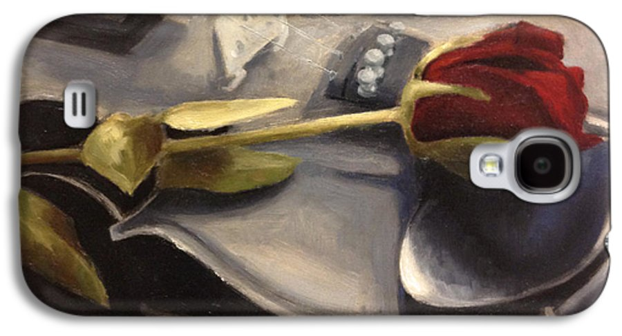 Violin Galaxy S4 Case featuring the painting Interlude by Alison Schmidt Carson