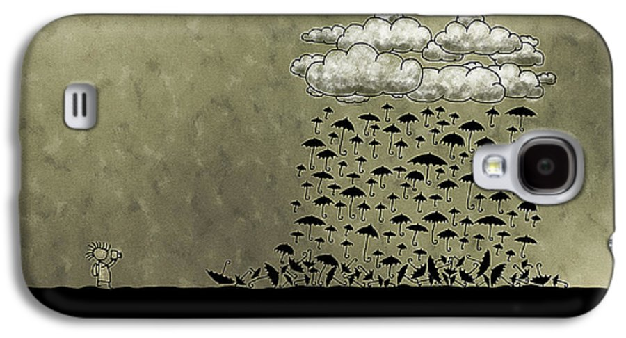Rain Galaxy S4 Case featuring the photograph It's Raining Umbrellas by Gianfranco Weiss
