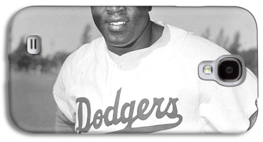 African Americans Galaxy S4 Case featuring the photograph Jackie Robinson Poster by Gianfranco Weiss