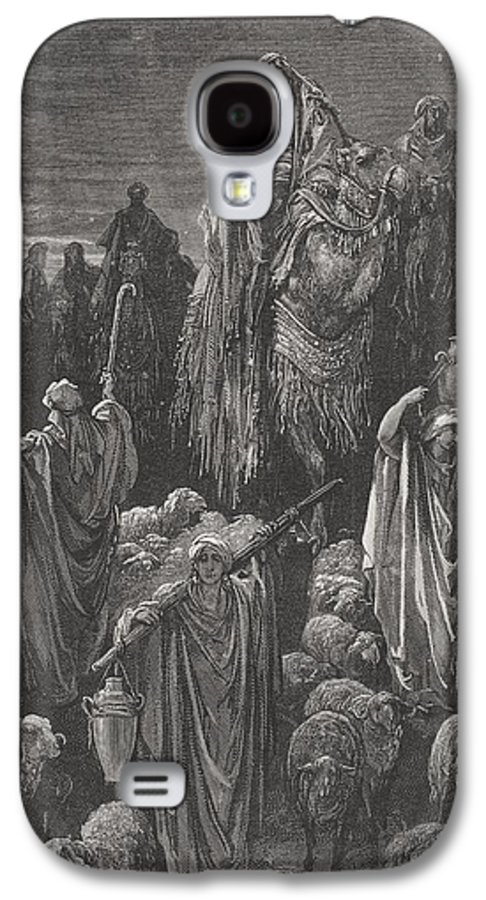Famine Galaxy S4 Case featuring the painting Jacob Goeth Into Egypt by Gustave Dore