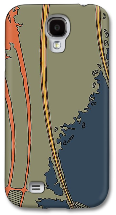 Abstract Galaxy S4 Case featuring the pyrography Java-i by Charles Rayburn