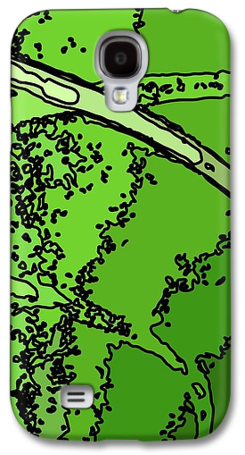 Abstract Galaxy S4 Case featuring the pyrography Java-ii by Charles Rayburn
