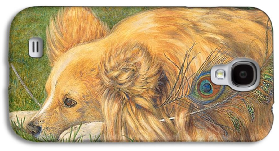 Dog Galaxy S4 Case featuring the painting Jealous Jessie by Emily Hunt and William Holman Hunt