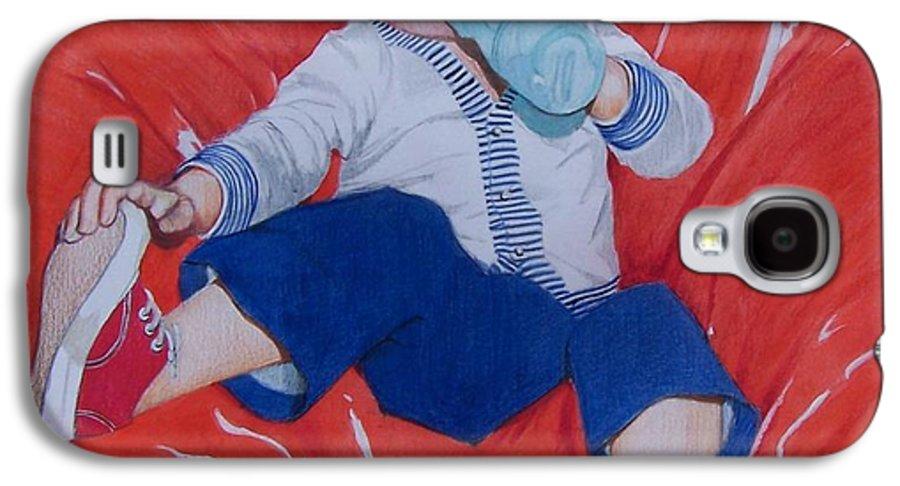 Boy Galaxy S4 Case featuring the mixed media Joey by Constance Drescher