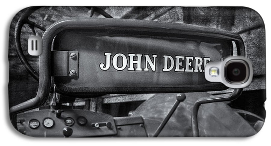 Diesel Galaxy S4 Case featuring the photograph John Deere Tractor Bw by Susan Candelario