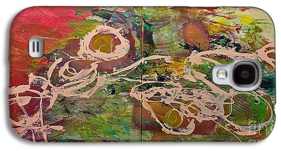 Landscape Galaxy S4 Case featuring the painting Journey Forth by Allan P Friedlander