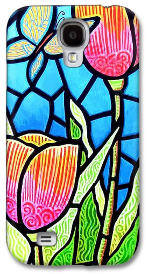 Butterflies Galaxy S4 Case featuring the painting Just Visiting by Jim Harris