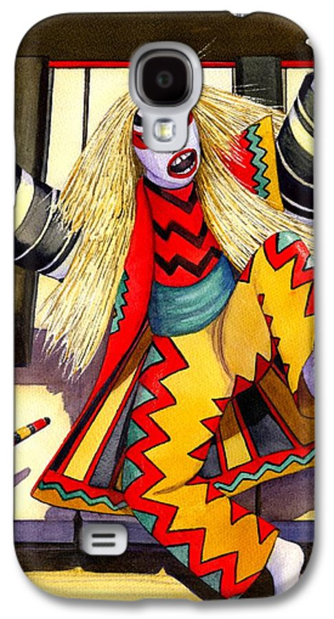 Kabuki Galaxy S4 Case featuring the painting Kabuki Chopsticks 3 by Catherine G McElroy