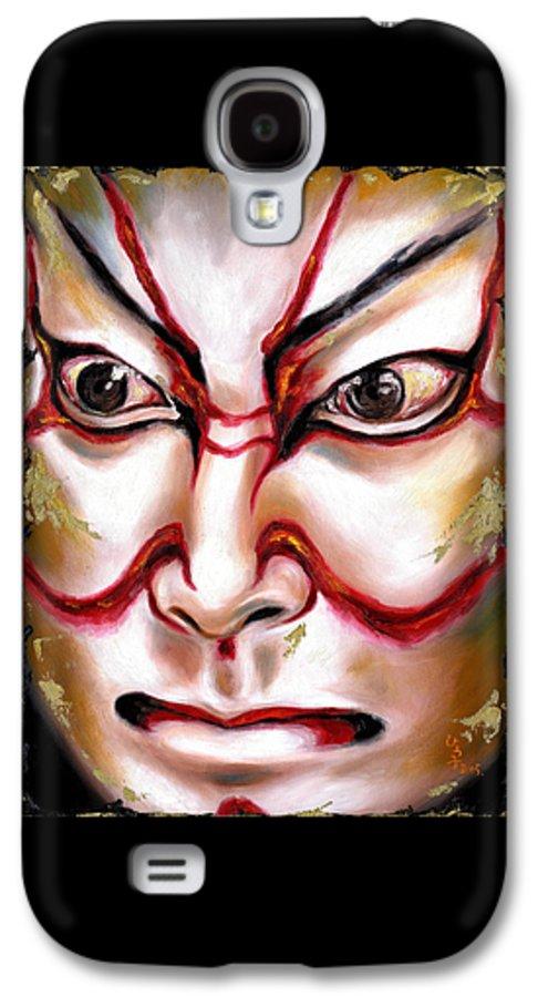 Kabuki Galaxy S4 Case featuring the painting Kabuki One by Hiroko Sakai