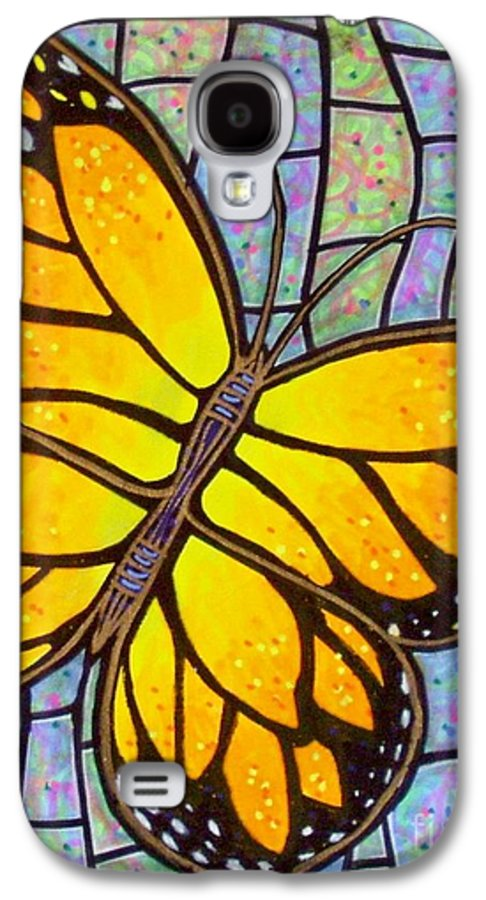 Butterflies Galaxy S4 Case featuring the painting Karens Butterfly by Jim Harris