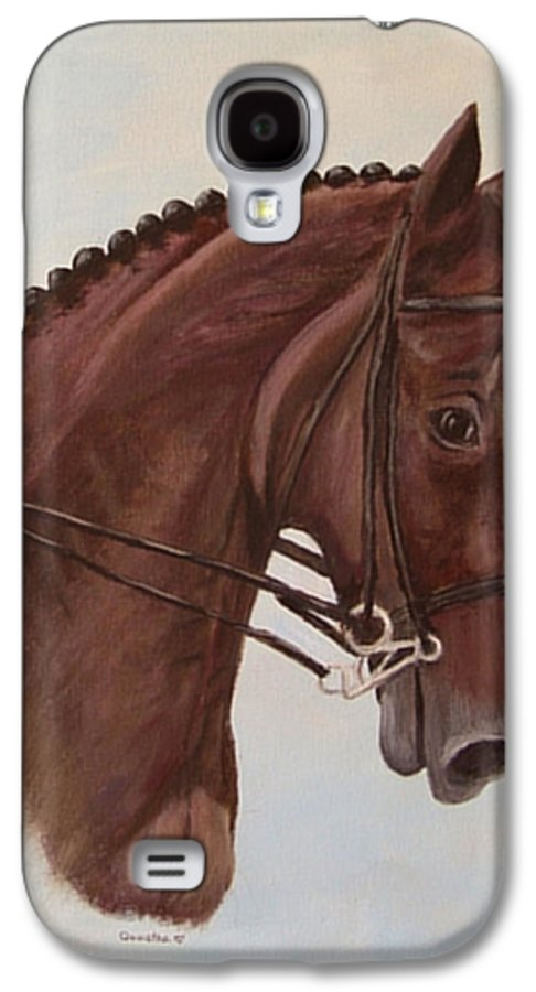 Horse Galaxy S4 Case featuring the painting Kingd'azur by Quwatha Valentine
