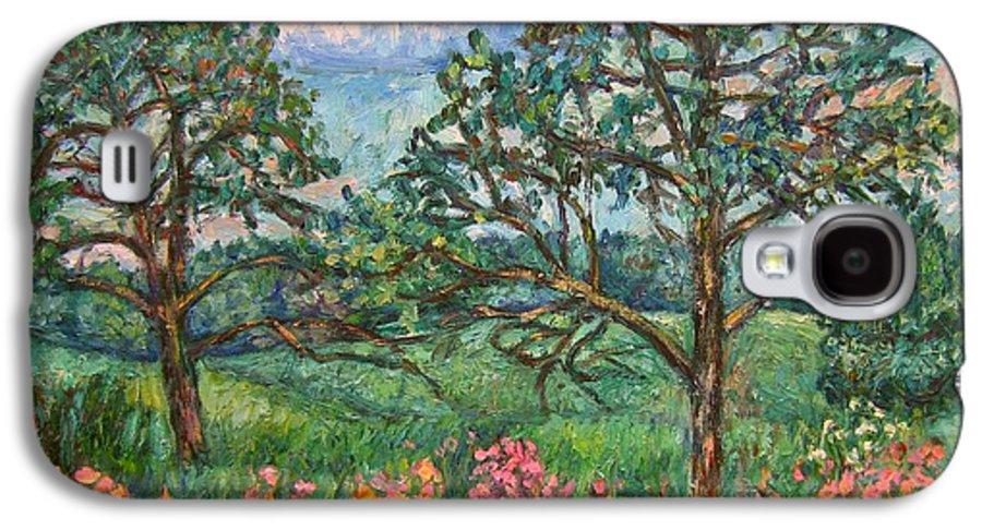 Landscape Galaxy S4 Case featuring the painting Kraft Avenue In Blacksburg by Kendall Kessler