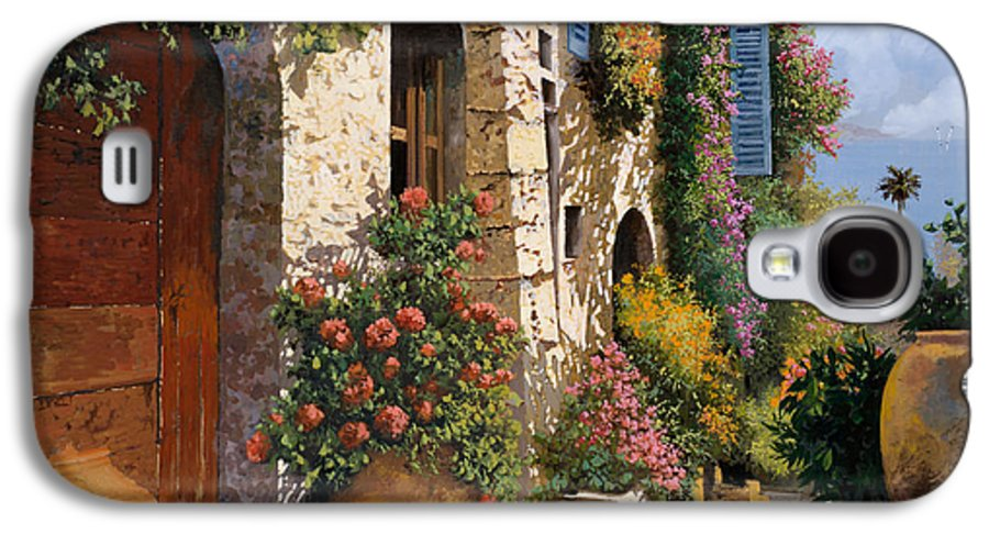 Street Scene Galaxy S4 Case featuring the painting La Bella Strada by Guido Borelli