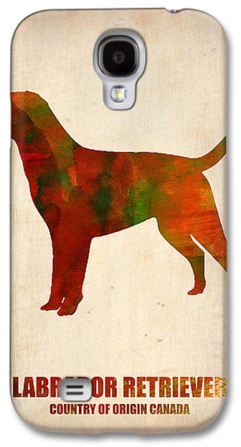 Labrador Retriever Galaxy S4 Case featuring the painting Labrador Retriever Poster by Naxart Studio