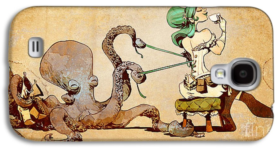 Steampunk Galaxy S4 Case featuring the digital art Lacing Up by Brian Kesinger