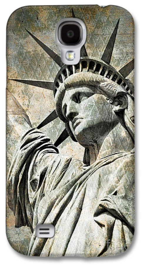 Statue Of Liberty Galaxy S4 Case featuring the photograph Lady Liberty Vintage by Delphimages Photo Creations