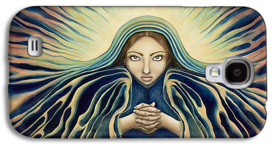 Virgin Mary Galaxy S4 Case featuring the painting Lady Of Light by Lyn Pacificar
