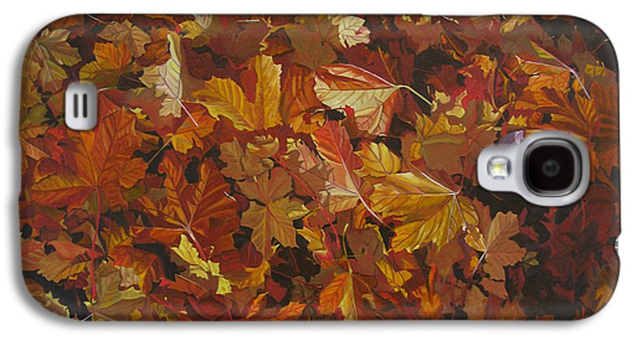 Fall Galaxy S4 Case featuring the painting Last Fall In Monroe by Thu Nguyen