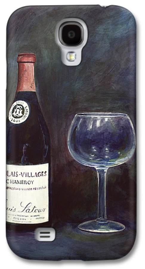 Lime Painting Galaxy S4 Case featuring the painting Latour Wine Buon Fresco 3 Primary Pigments by Don Jusko