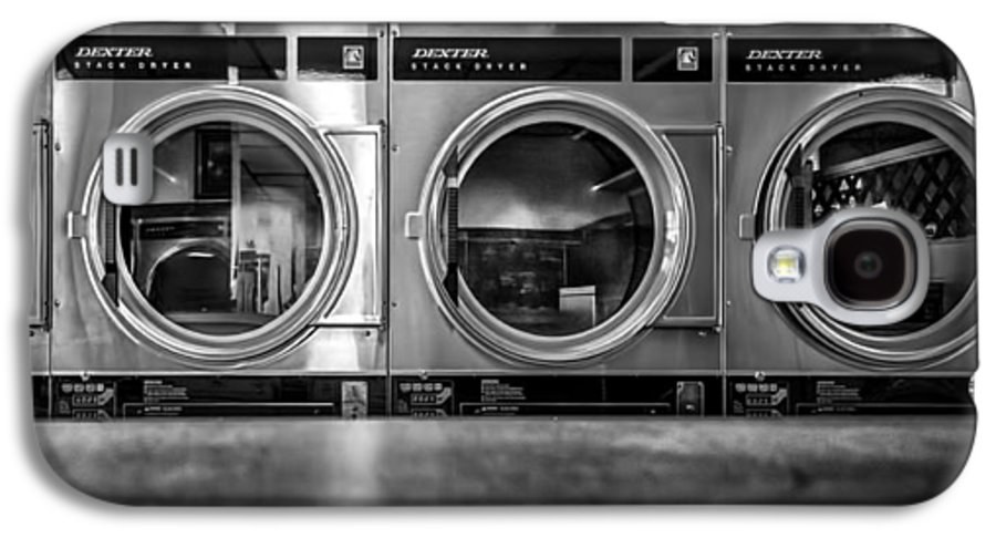 Abstract Galaxy S4 Case featuring the photograph Laundromat Art by Bob Orsillo