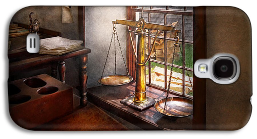 Hdr Galaxy S4 Case featuring the photograph Lawyer - Scales Of Justice by Mike Savad