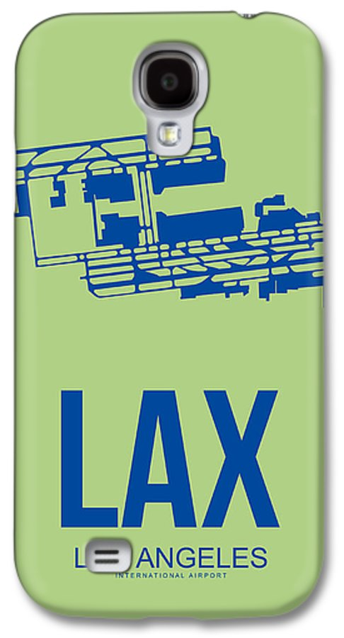 Los Angeles Galaxy S4 Case featuring the digital art Lax Airport Poster 1 by Naxart Studio