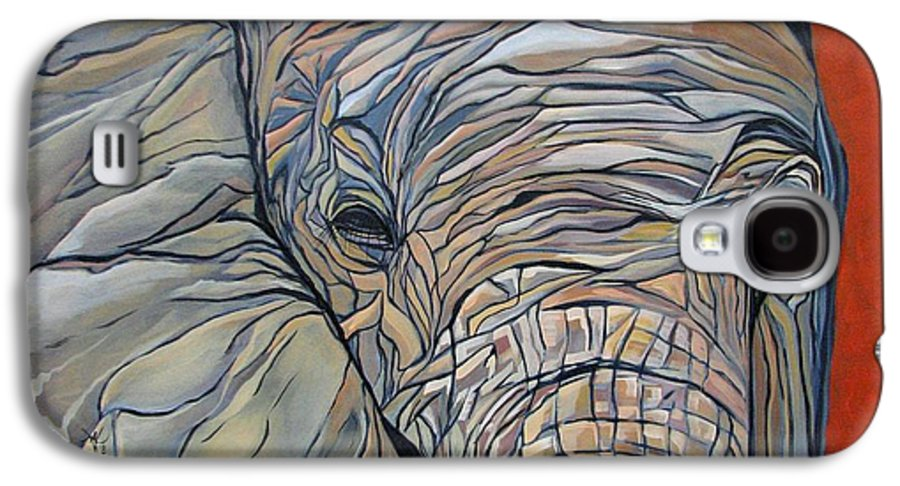 Elephant Galaxy S4 Case featuring the painting Lazy Boy by Aimee Vance