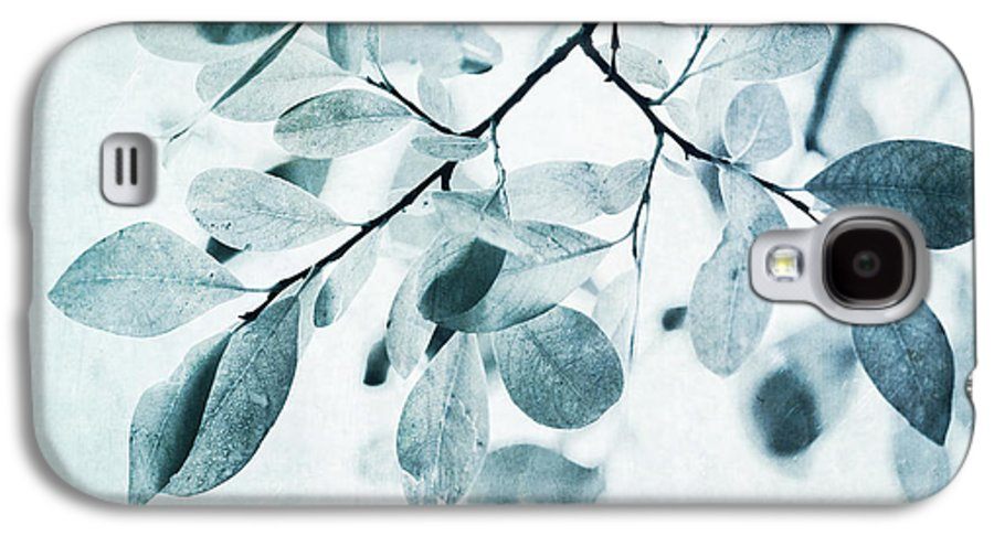 Foliage Galaxy S4 Case featuring the photograph Leaves In Dusty Blue by Priska Wettstein