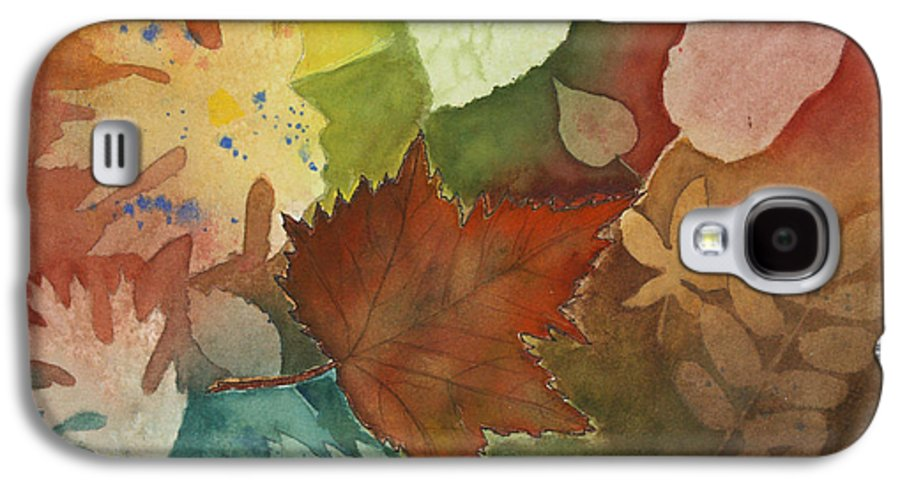 Leaves Galaxy S4 Case featuring the painting Leaves Vl by Patricia Novack