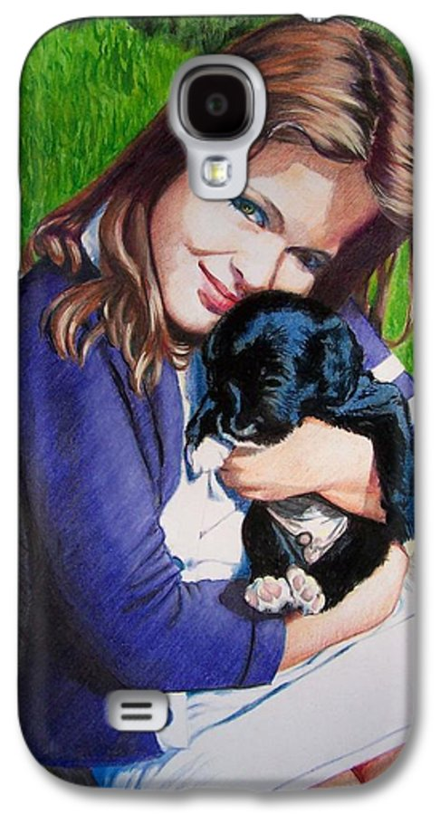 Girl Galaxy S4 Case featuring the mixed media Leslie And Sergeant by Constance Drescher
